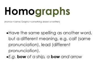 Homograph Word Mat