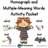 Homograph and Multiple Meaning Words Activity Packet and W
