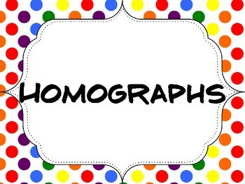 Homograph (and other confusing words) Posters