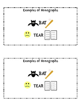 Homographs Activity Booklet /CC.2.L.4.-Multiple meaning words