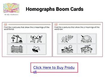 Homographs Boom Cards