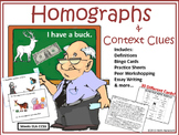 Homographs & Context Clues: Bingo, Visual Game, Writing, & Workshopping