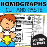 Homographs Worksheets