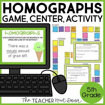 Homographs Game | Homographs Center | Homographs Activities