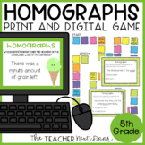 Homographs Game Print and Digital Distance Learning
