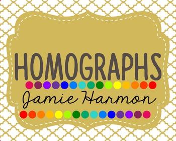 Homographs Mini Chart Set