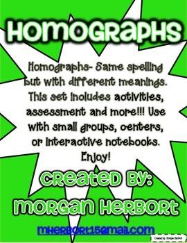 Homographs Mini-lessons