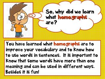 Homographs (Multiple Meaning Words) PPT Common Core 3rd Grade