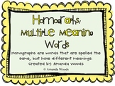 Homographs/ Multiple Meaning Words Unit