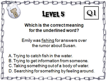 Homographs/ Multiple Meaning Words Escape Room - ELA (Vocabulary Game)