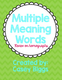 Homographs Review (Multiple Meaning Words) (IREAD 3)