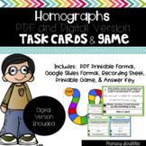 Homographs Task Cards and Game (Digital Version Included)