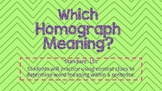 Homographs & Their Meanings (Sentence Practice)