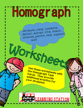 Homographs, Worksheets