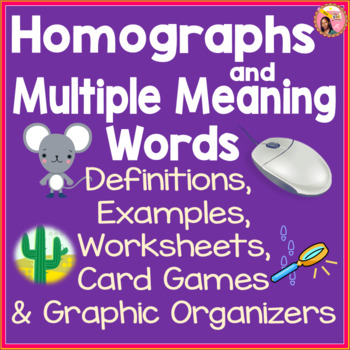 Homographs And Multiple Meaning Words By Nylas Crafty Teaching Tpt