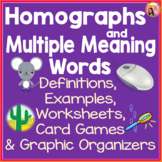 Homographs and Multiple Meaning Words