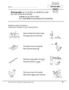 Homographs: duck