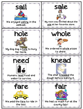 Homographs/Homophones Memory Pack - Aligned with Common Core Standards