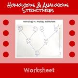 Homologous and Analogous Structures Worksheet