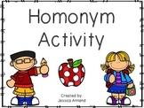 Homonym Activity