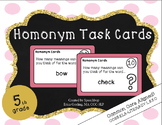 Homonym Task Cards - 5th Grade {common core aligned}