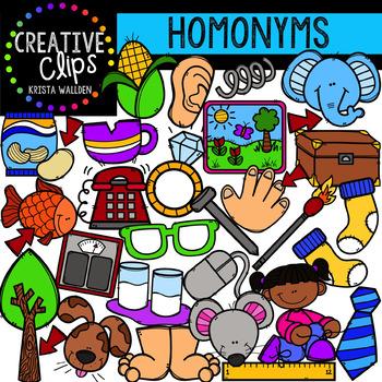 Homonym Clipart {Creative Clips Digital Clipart}