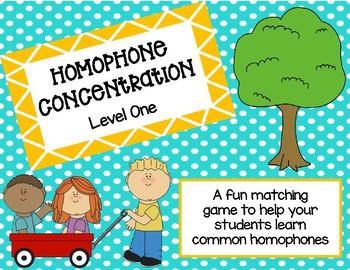 Homophone Concentration Level 1