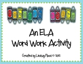 Homonym ELA Word Work Center