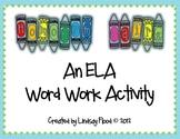 Homonym ELA Word Work Center