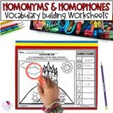 Homonym, Homophone, Homograph Printables
