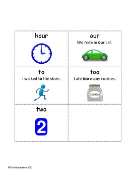 Homonym & Homophone Study Sheets, Cards, and Test