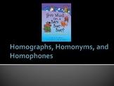 Homonym, Homophone, and Homograph Power Point Presentation