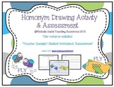 Homonym (Mutliple Meaning Words) Drawing Activity and Assessment