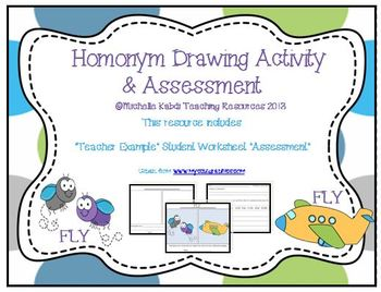 Homonym Mutliple Meaning Words Drawing Activity And Assessment