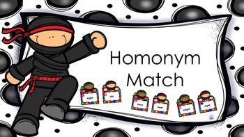 Homonym Ninja Match