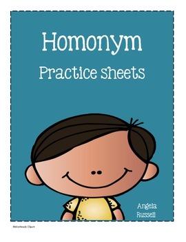 Homonym Practice Sheets