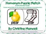 Homonym/Homophones Puzzle Match-30 Matches