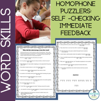 Homophones Worksheets and Riddles