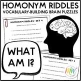 Homonym Riddles