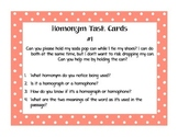Homonym Task Cards