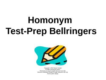 Homonym Test-Prep Bellringers Power Point
