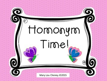 Homonym Time!