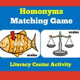 Homonyms | Kindergarten 1st 2nd 3rd Grade | Activity Liter