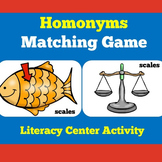 Homonyms Activity Game