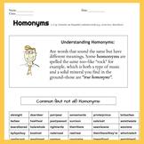 Homonyms 2 pg. Lesson/Worksheet, Handout, Quiz, Or Homewor