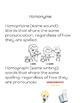 Homonyms Book