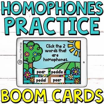 Homonyms Boom Cards (Digital Task Cards)