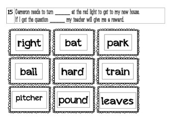 Homonyms Center or Matching Game