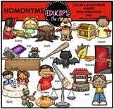 Homonyms Clip Art Bundle {Educlips Clipart}