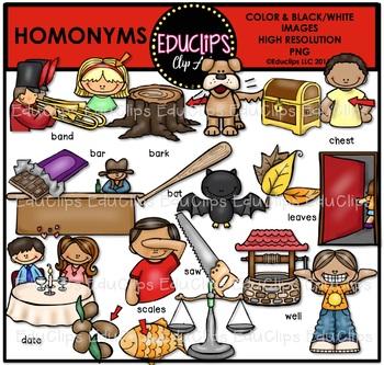 Homonyms Clip Art Bundle